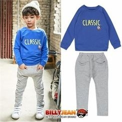 BILLY JEAN - Boys Set: Lettering Sweatshirt + Baggy-Fit Pants