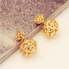 Best Jewellery - Hollow Ball Through & Through Earrings