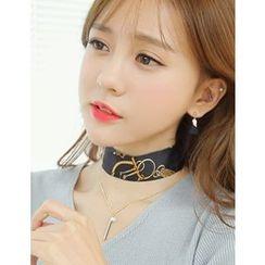 soo n soo - Scarf-Choker Layered Metal-Bar Pendant Necklace