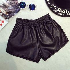 RUI - 仿皮短褲
