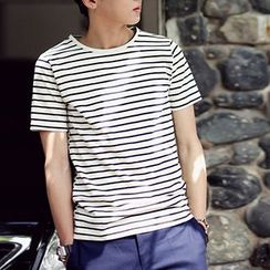 Streetstar - Stripe Short-Sleeve T-Shirt