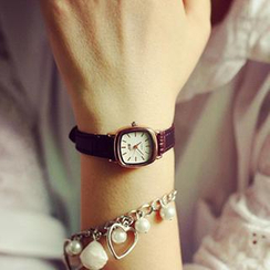 InShop Watches - Faux-Leather Strap Watch