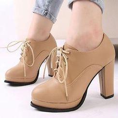Mancienne - Lace-Up Shoe Boots