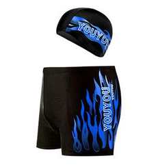 Charmaine - 套裝: 字母泳褲 + 泳帽