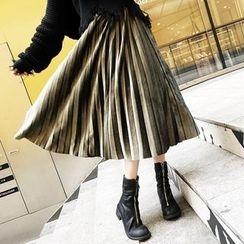 Colorful Shop - Pleated Midi Skirt
