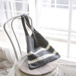 JUSTONE - Contrast-Trim Knit Shopper Bag