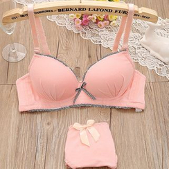 MM - 套裝: 蝴蝶結胸罩 + 內褲