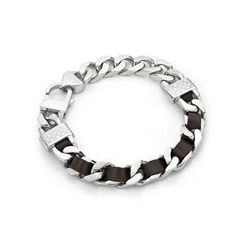 Kenny & co. - Brown Leather Screw Bracelet (L)