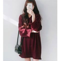 MATO - V-Neck Sweater Dress