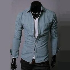 Sheck - Long-Sleeve Denim Shirt