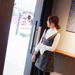 mimi&didi - Checked A-Line Jumper Dress