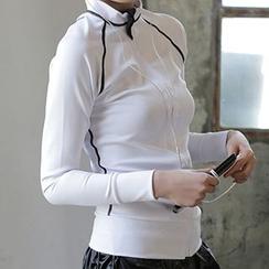 Lissom - 配色邊拉鏈運動夾克