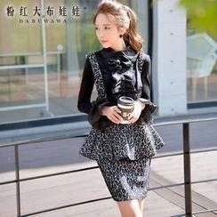 Dabuwawa - Peplum Printed Jumper Skirt