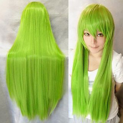 Ghost Cos Wigs - Cosplay Straight Long Wig - Code Geass: C.C.