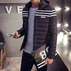 Blueforce - Stripe Padded Hooded Jacket
