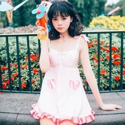 小桃泳衣 - 領帶泳裙