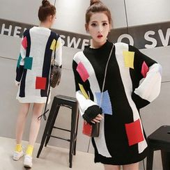 Hibisco - Color Block Long Sweater