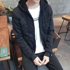 JORZ - Set: Hooded Zip Jacket + Plain Sweatpants