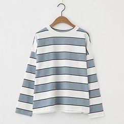 Meimei - Stripe Long-Sleeve T-shirt