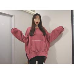 Envy Look - Fleece-Lined Oversized Sweatshirt