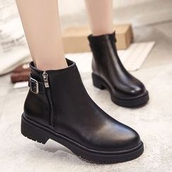 QQ Trend - Chunky Heel Ankle Boots