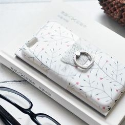 Milena - Set of 4: Printed iPhone 6 / 6 Plus Phone Case + Ring Holder + Notebook + Zip Pouch