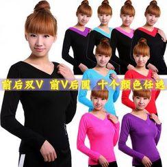 Dancing Queen - V-Neck Long Sleeve Dance Top