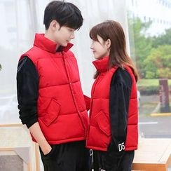 JORZ - Couple Matching Stand Collar Padded Vest