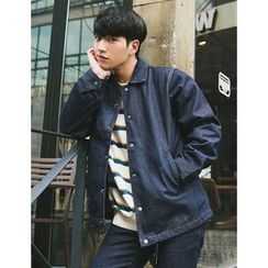 STYLEMAN - Button-Front Denim Jacket