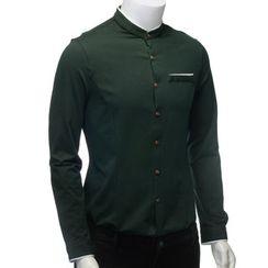 YesStyle M - 撞色衬衫