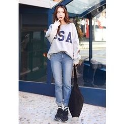 DEEPNY - Printed Loose-Fit Sweatshirt
