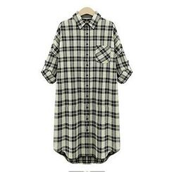 Eloqueen - Plaid Long Shirt