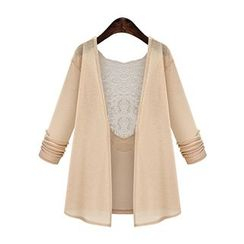 Sugar Town - Lace Panel Light Jacket