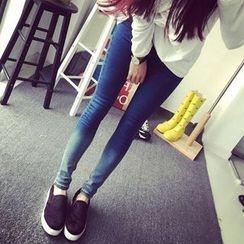 Kakyo - 渐变色窄身牛仔裤