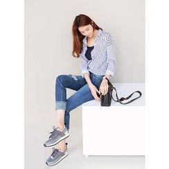J-ANN - Long-Sleeve Striped Shirt