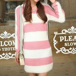 Isadora - Striped Sweater Dress