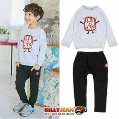 BILLY JEAN - Kids Set: Lettering Pullover + Harem Pants