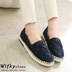 Wifky - Woven Faux-Suede Espadrille Slip-Ons