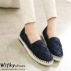 Wifky - 编织仿麂皮麻底轻便鞋