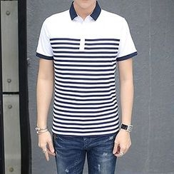 Evzen - Striped Polo Shirt