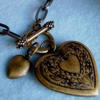 MyLittleThing - Vintage Heart Locket Bracelet