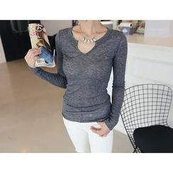DANI LOVE - Slim-Fit Henley