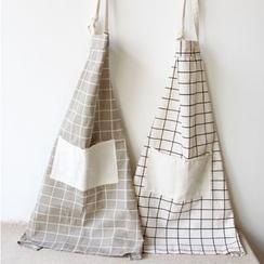 Gukan - Letter Print Linen Cotton Apron