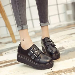 Wello - Buckled Platform Loafers