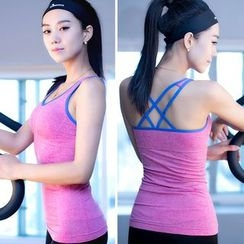 Girasol - Cross-Strap Workout Camisole Top