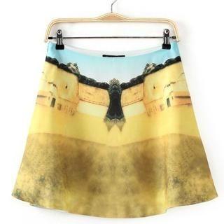 JVL - Printed A-Line Skirt