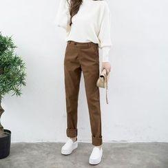 Yumerakka - Slim-Fit Woolen Pants