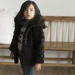 Fluff Snowy - Kids Faux-Fur Hooded Coat