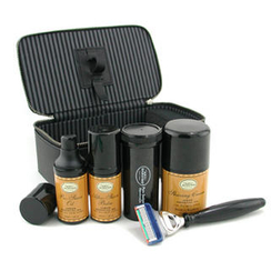 The Art Of Shaving - Travel Kit (Lemon): Razor+ Shaving Brush+ Pre-Shave Oil 30ml+ Shaving Cream 50ml+ A/S Balm 30ml+ Case
