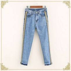 Fairyland - Color Block Jeans